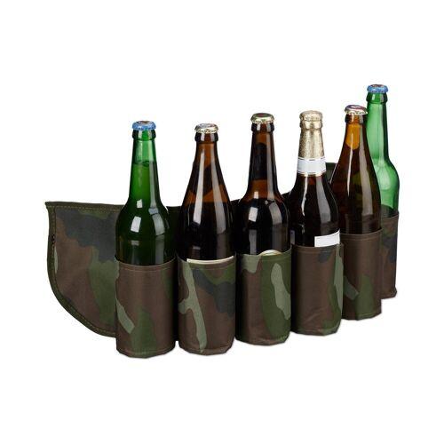 relaxdays Partyanzug »Biergürtel für 6 Dosen & Flaschen«