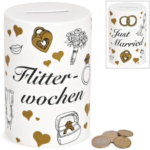 matches21 HOME & HOBBY Spardose »Spardose rund Hochzeit Hochzeitsgeschenk Geldgeschenk Sparbüchse«