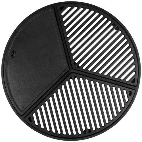 BBQ-Toro Grillplatte »Gusseisen Plancha Set für 57 cm Kugelgrill, Grillrost und Grillplatte«
