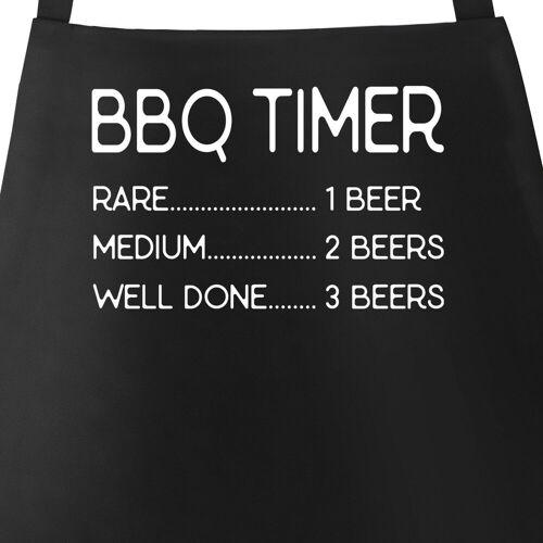 MoonWorks Grillschürze »Grill-Schürze für Männer mit Spruch Grillschürze BBQ Timer Bier Baumwoll-Schürze Küchenschürze ®«, mit kreativem Aufdruck