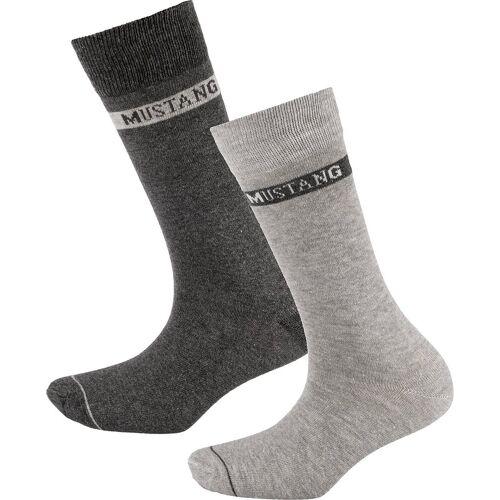 MUSTANG Socken »3 Paar Socken basic«, grau
