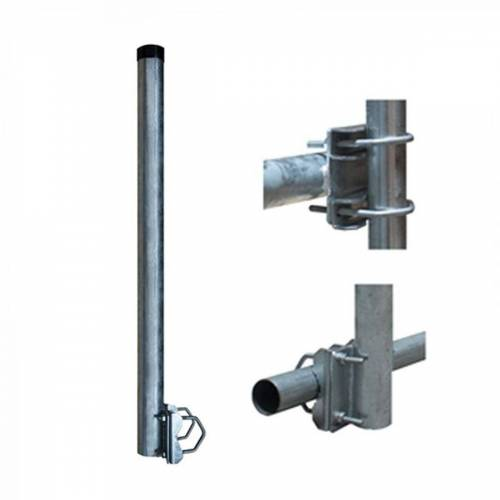 PremiumX »1x Balkonhalter Stahl 100cm Ø 48mm mit 2 Schellen« SAT-Halterung