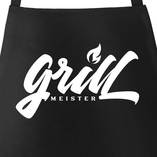 MoonWorks Grillschürze »Herren Grillschürze Grillmeister Schürze Küchenschürze Kochschürze Baumwolle Tasche ®«, mit kreativem Aufdruck