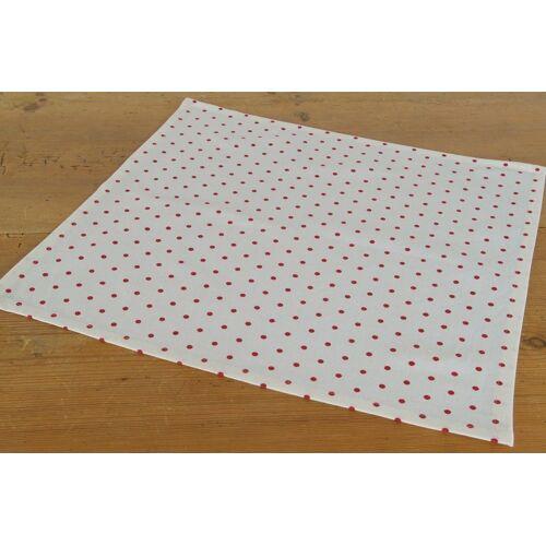 matches21 HOME & HOBBY Stoffserviette, »Textil Stoff Serviette rot weiß gepunktet 45x45 cm«,