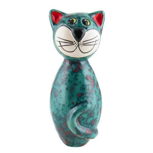 Tangoo Dekoobjekt »Keramik-Katze MINI türkis Effektglasur mit«