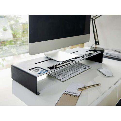 Yamazaki »Tower« Monitor-Halterung, (Schreibtischaufsatz, Monitorerhöhung, Bildschirm Ablage), schwarz