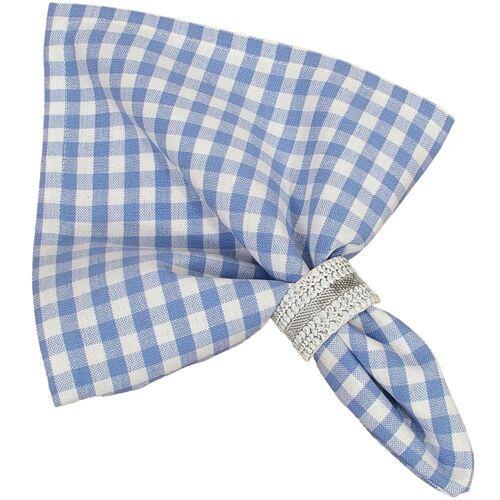 matches21 HOME & HOBBY Stoffserviette, »Textil Stoff Serviette hellblau kariert 45x45 cm«, , hellblau