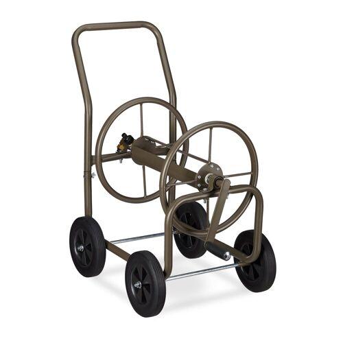 relaxdays Gartenschlauch »Schlauchwagen XL Metall«