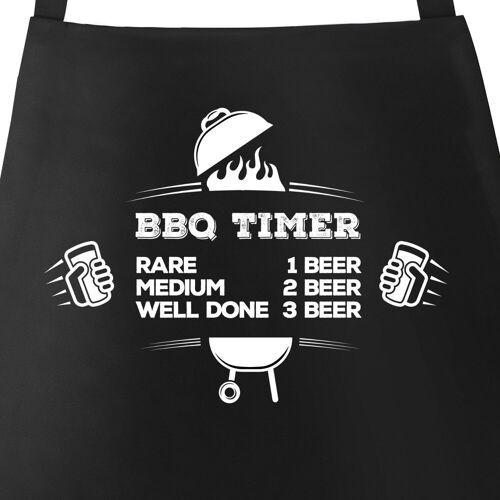 MoonWorks Grillschürze »Grillschürze für Männer mit Spruch BBQ Timer Bier Schürze Herren ®«, mit kreativem Aufdruck