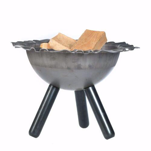acerto® Feuerstelle »Massive Feuerschale 40cm + 5 Stk. Kaminholz«