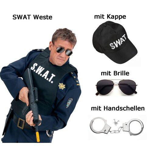 Scherzwelt Kostüm »S. W. A. T. Weste - Männerweste - SWAT - Undercover Polizei Set mit Zubehör«