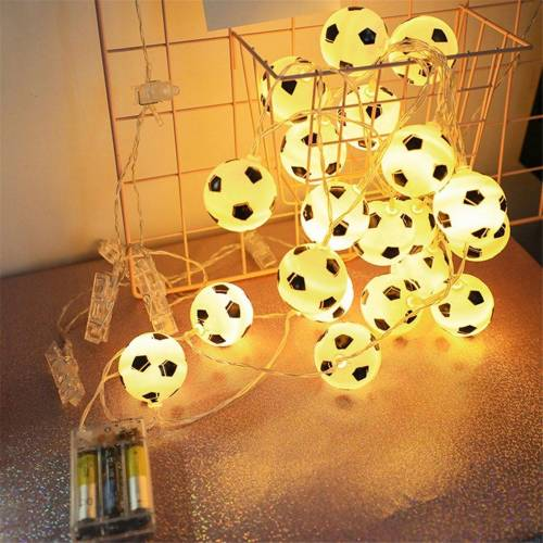 Gotui LED Stripe, 1,5M 10 LED Fußball Fußball Fee Lichterkette Kinder Junge Schlafzimmer Party Dekor Lampe