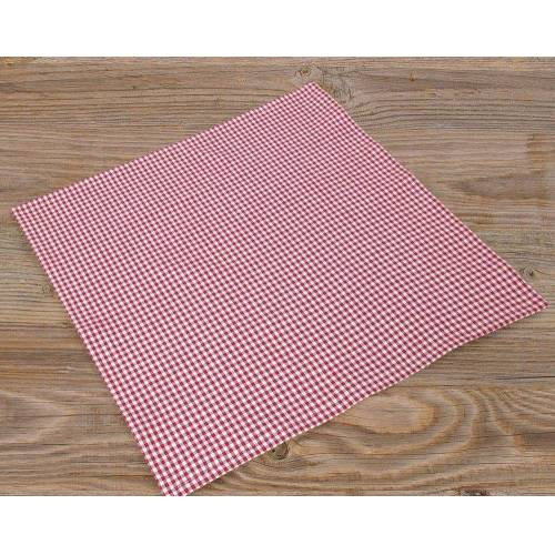 matches21 HOME & HOBBY Stoffserviette, »Textil Stoff Serviette rot kariert«, , rot