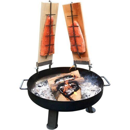 acerto® Feuerstelle »Feuerschale 55cm + 2x Flammlachsbrett«