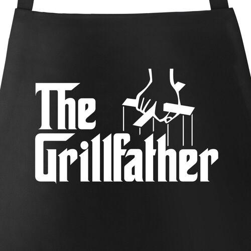 MoonWorks Grillschürze »Herren Grill-Schürze The Grillfather Schürze zum Grillen BBQ Baumwoll-Schürze mit Tasche ®«, mit kreativem Aufdruck
