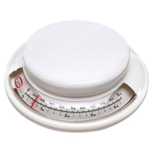 Dr. Oetker Küchenwaage »- Back-Helfer Küchenwaage analog bis 2kg Weiß (1531) Backwaage Waage«
