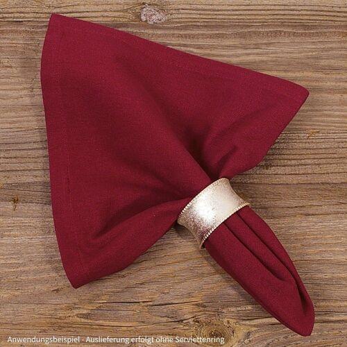 matches21 HOME & HOBBY Stoffserviette, »Textil Stoff Serviette rot einfarbig 45x45 cm«,