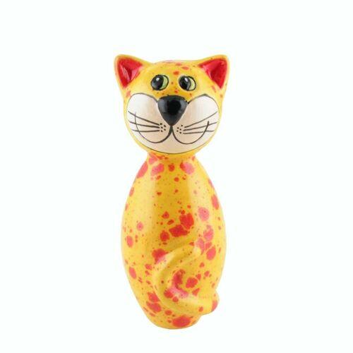 Tangoo Dekoobjekt »Keramik-Katze MINI gelbe Effektglasur mit«