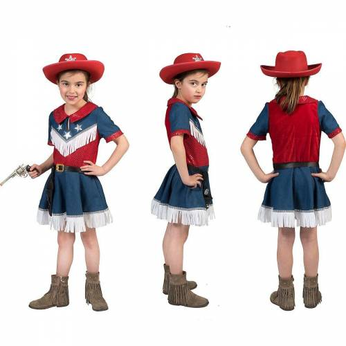 Funny Fashion Kostüm »Kinde Karnevalskostüm Cowboy Kleid Gr 164«