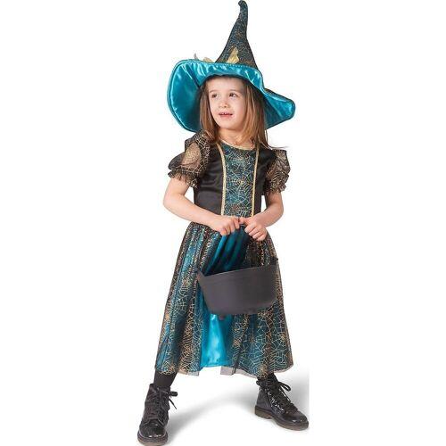 Funny Fashion Kostüm »Kinder Karnevalskostüm Hexe Petrol Gr 140«
