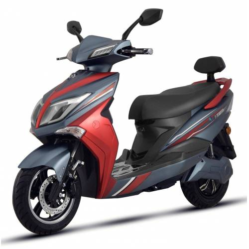 ELEKTROROLLER FUTURA »Elektroroller Hawk 3000 E-Scooter Elektro E-Roller mit Straßenzulassung 45 km/h« Elektromobil, Schwarz/rot