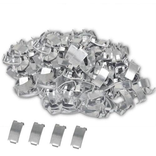 vidaXL »500 Schwalbenschwanz-Klammern für NATO-Draht Verzinkter Stahl« Gurtstecker