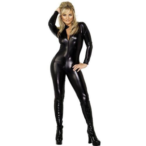Smiffys Kostüm »Black Lady Catsuit Kostüm«
