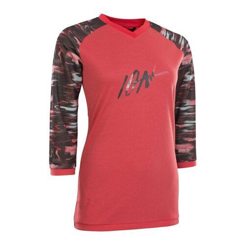 ION Radtrikot »Fahrradtrikot Tee LS 3/4 Scrub AMP Damen«, pink