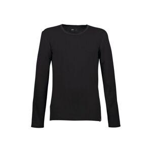 Trigema Sportshirt aus Merinowolle, schwarz