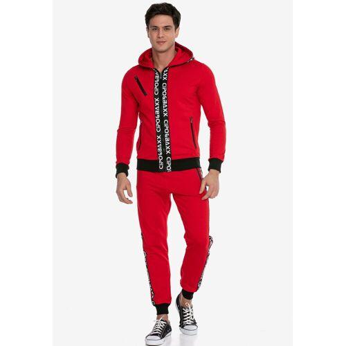 Cipo & Baxx Sportanzug, im sportlichen Look, rot
