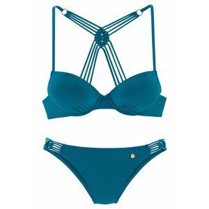 LASCANA Push-Up-Bikini mit Makramee-Details, petrol