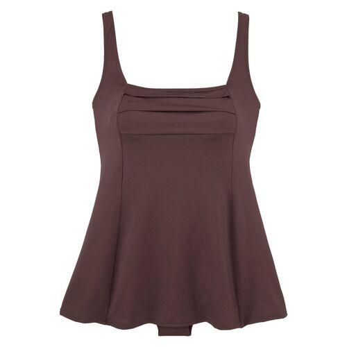 LASCANA Badekleid, mit schönem Druck oder unifarben, braun