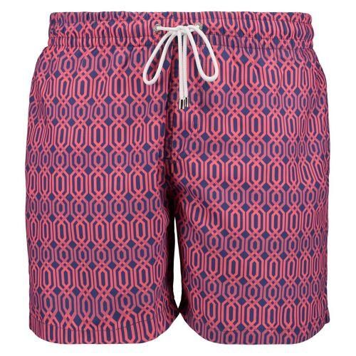 East Club London Badeshorts im stylischen Look »HEXAGON PRINT«, blue-pink