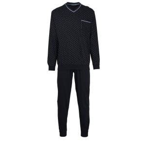 GÖTZBURG Pyjama »Herren Schlafanzug Set - lang, V-Ausschnitt,«