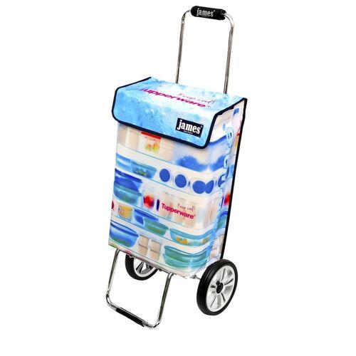james Einkaufstrolley »Design TUPPERWARE deluxe«, Einkaufsbegleiter mit hoher Stabilität - sehr robust - 2-fach faltbar - Fassungsvermögen: 40 L - Tragkraft: 40 kg - Tasche: 20 x 36 x 55 cm