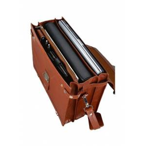 Alassio® Aktentasche »Mocca«, aus Leder
