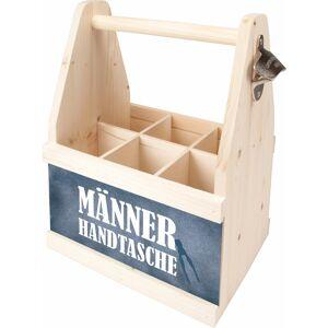Contento Flaschenkorb »Männer Handtasche«, aus europäischem Holz
