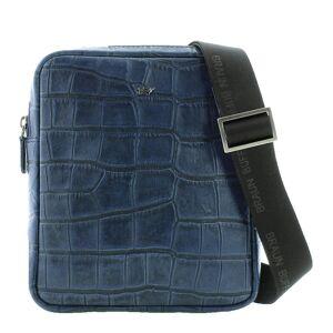 Braun Büffel Umhängetasche »LISBOA«, in modischem Reptilien-Design, blau