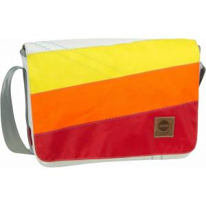 360Grad Umhängetasche »Barkasse Mini«, Gelb/Orange/Rote Streifen