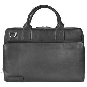 Plevier 700er Serie Aktentasche Leder 38,5 cm Laptopfach, schwarz