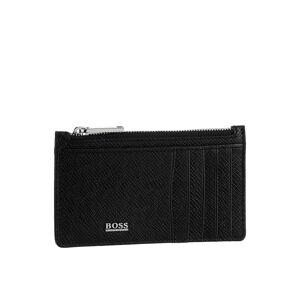 Boss Geldbörse »Signature_5cc Z poch«, aus hochwertigem Leder im klassischen Stil