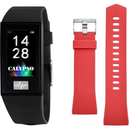 CALYPSO WATCHES Smartime, K8500/6 Smartwatch Set, 2-tlg., mit rotem Wechselband, Mit Wechselband