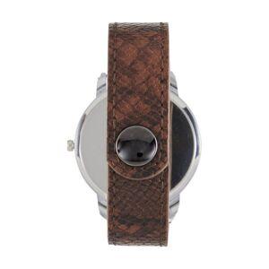 heine Armbanduhr mit Reptilienprägung, braun