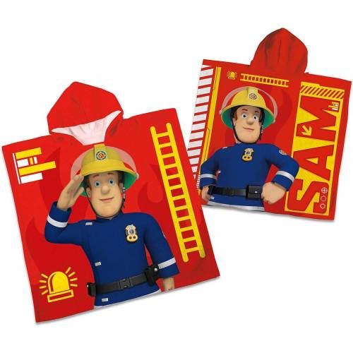 Herding Badeponcho »Badeponcho Feuerwehrman Sam, 60 x 120 cm«,