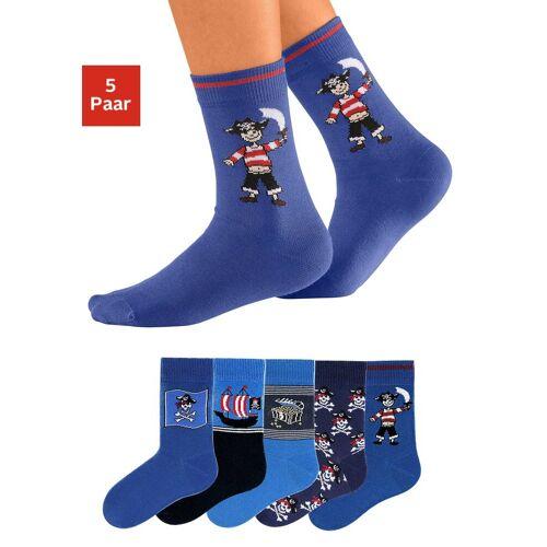 Go in Socken (5-Paar) mit Piratenmotiven