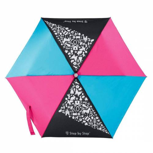 Step by Step Regenschirm Mädchen Kinder Taschenschirm Pink Blau »Pink & Blue Mini Rain Effect«, Blau