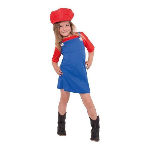 Folat Kostüm »Kostüm Super Klempner Mädchen rot«