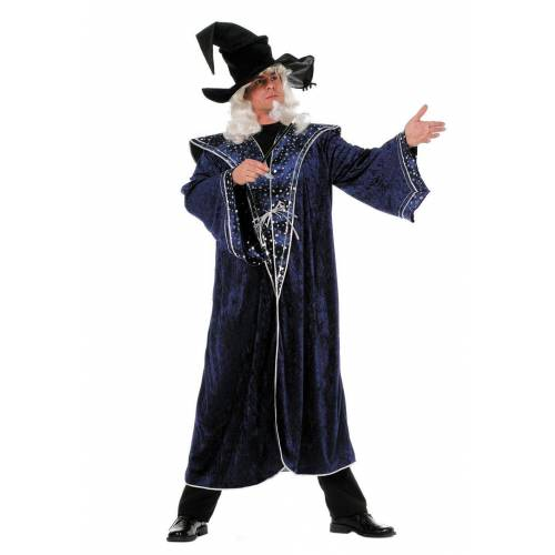 Wilbers Kostüm »Kostüm Zauberer 50 - 60 blaue Sterne Zaubermeister«