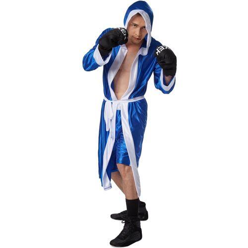 tectake Kostüm »Herrenkostüm Boxer«, blau/weiß