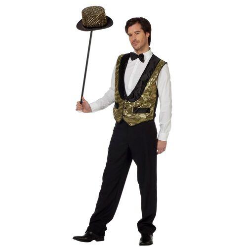 Wilbers Kostüm »Glitzer Weste für Herren Gold«